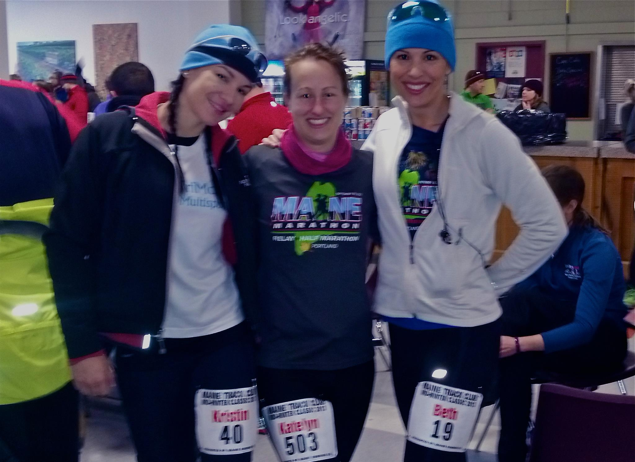 Kristin, myself, and Beth getting ready to run this thing!