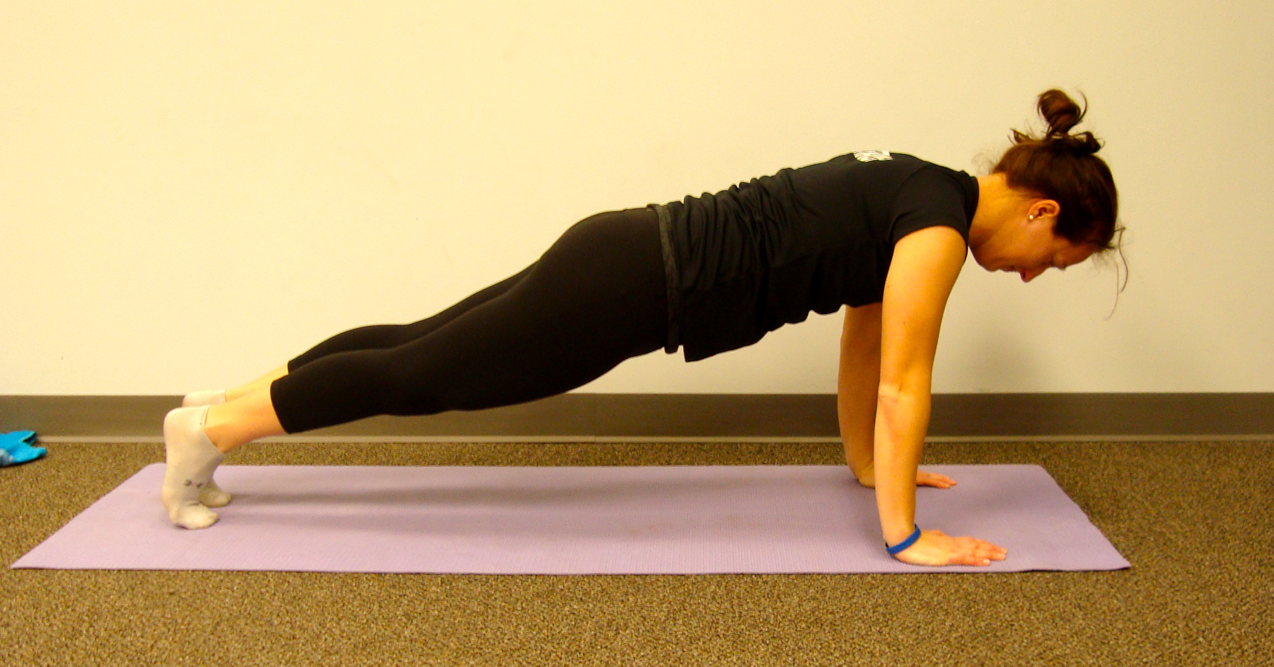 Yoga Plank - Make sure you keep arms right under shoulder where you are the most structually strong