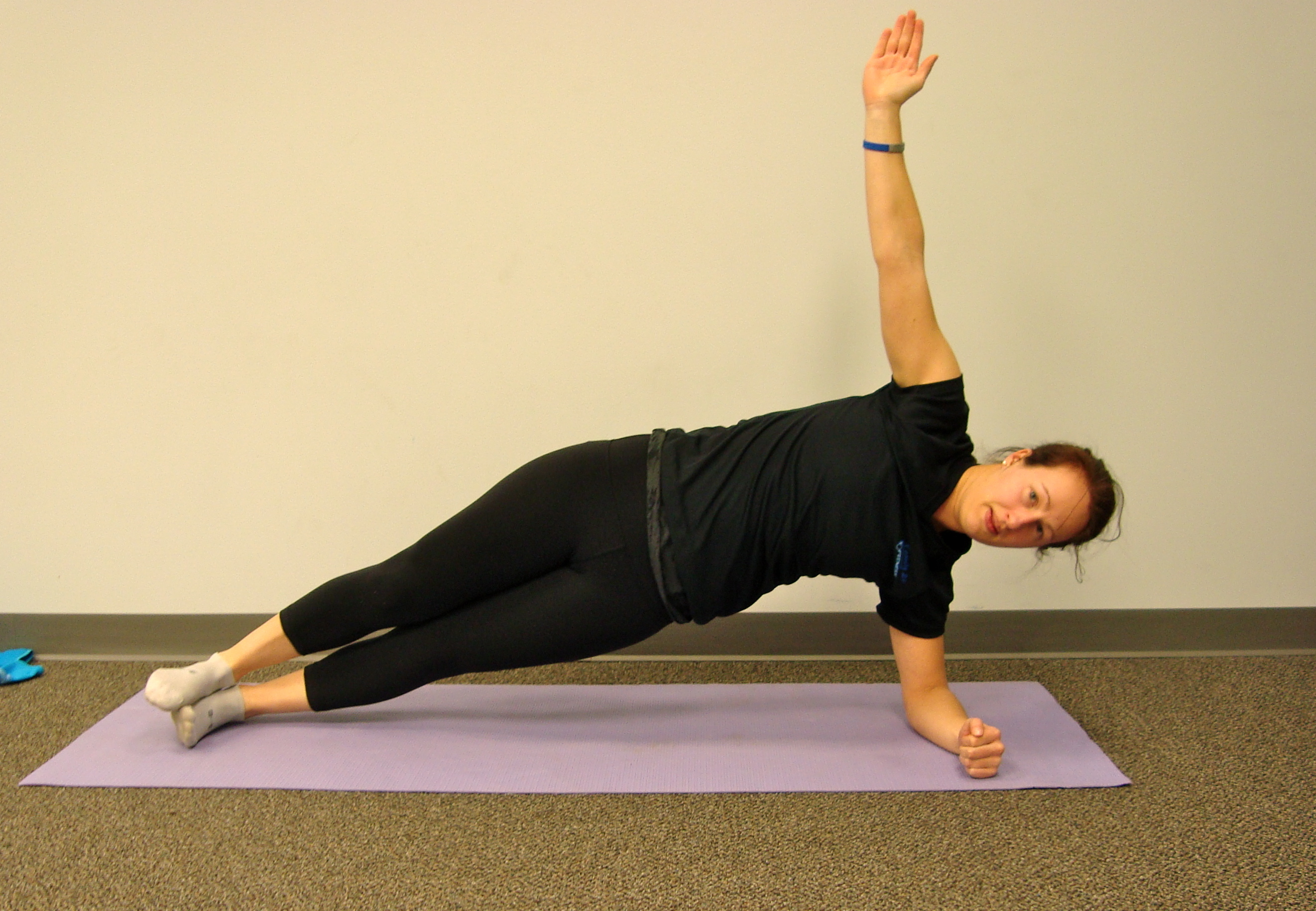 Plank Progression#7: Side Plank - Make sure you keep your hips up