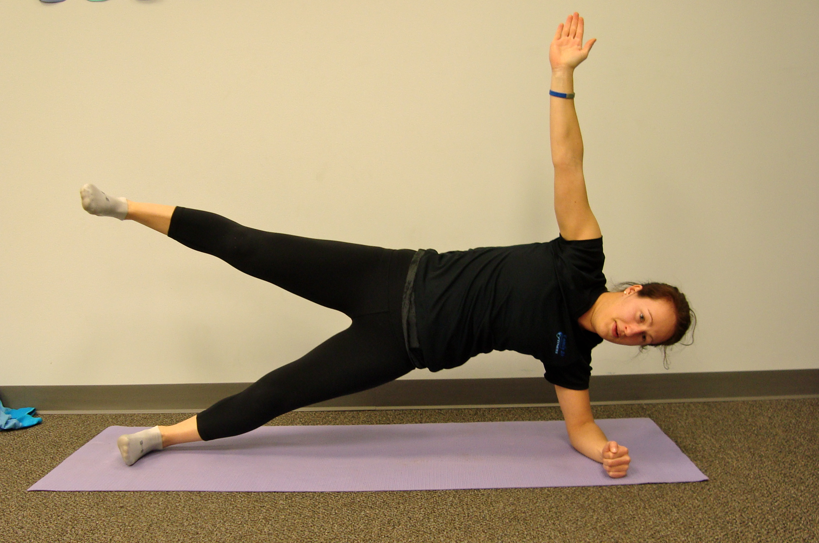 Plank Progression #8: Side Plank with Leg Raise - If a normal side plank is too easy then try lifting the top leg!