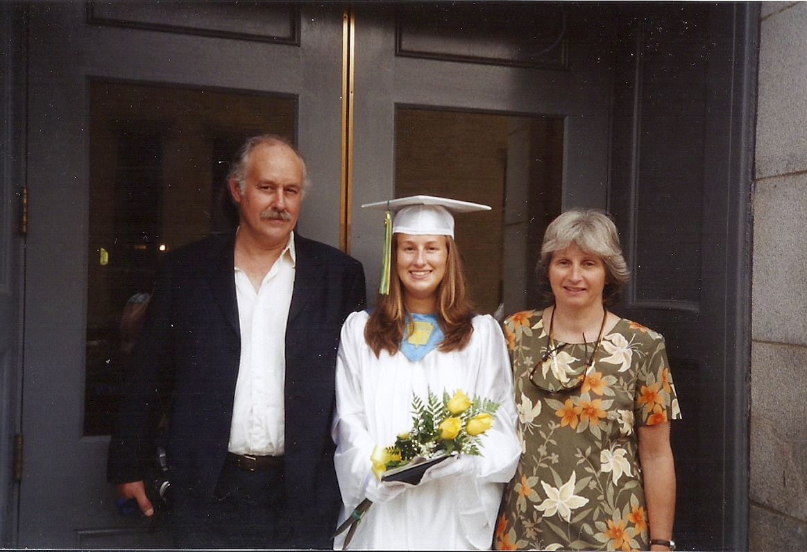 My High School graduation with my parents (2005)