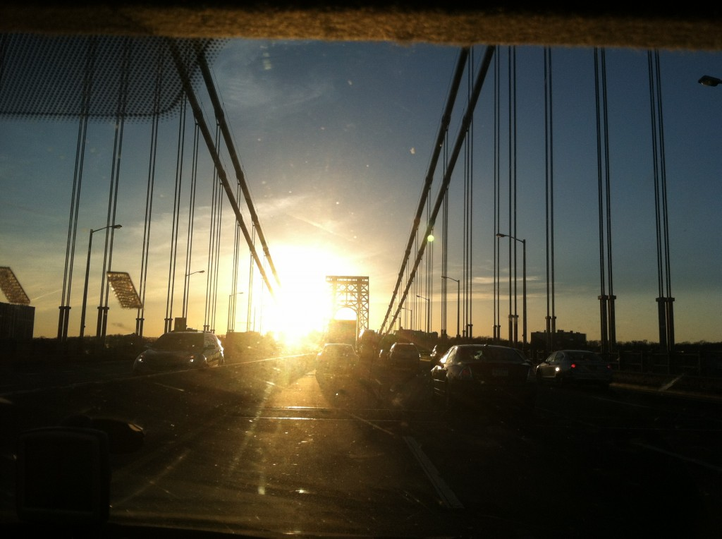 Crossing the GW Bridge in NYC