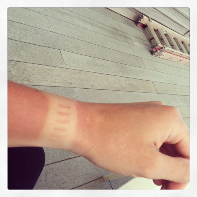 My awesome Garmin watch tan lines!