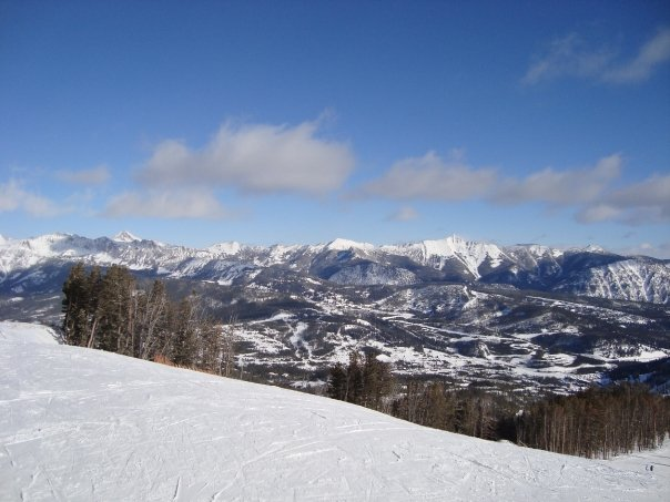 The view from Big Sky during the winter