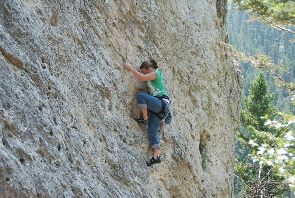 More rock climbing in Gallatin Valley
