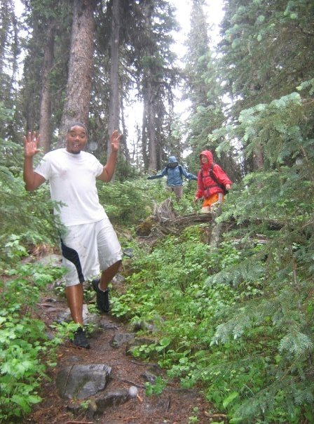 Hiking in Gallatin Forest (in the rain)