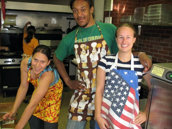 Part of the Summer Student Program is cooking on the weekend (we had a cook during the week, tough life I know). I loved the American flag apron!
