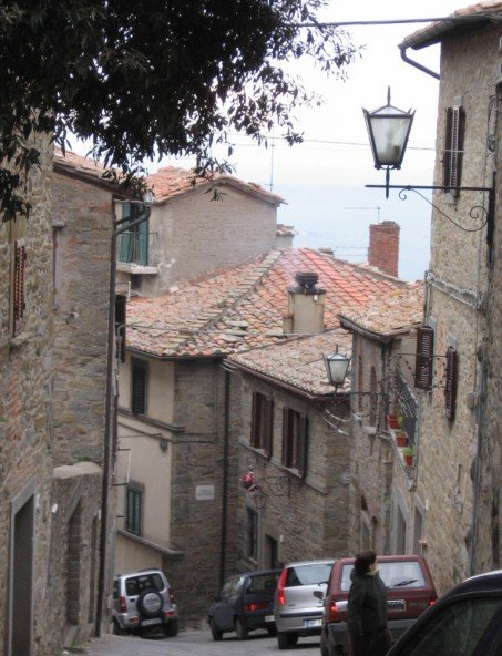 The town of old Cortona