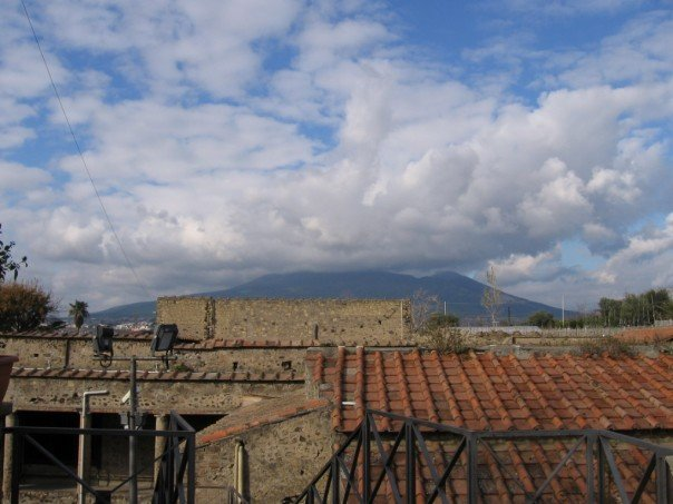 Mt. Vesuvius in the clouds